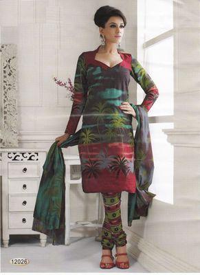 Cotton Dress Material Elegant Designer Unstitched Salwar Suit D.No 12026