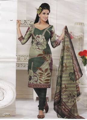 Cotton Dress Material Elegant Designer Unstitched Salwar Suit D.No 12028