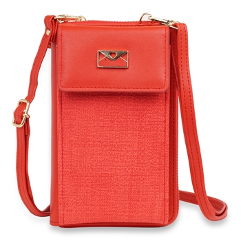 NFI essentials Women's Mobile Cell Phone Holder Pocket Wallet Hand Purse Clutch Crossbody Sling Bag
