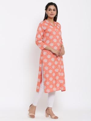 Ardozaa Womens Rayon Floral Print A-line Kurta (Pink)