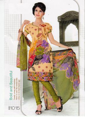 Dress Material Elegant Crepe Printed Unstitched Salwar Kameez Suit D.No 1015