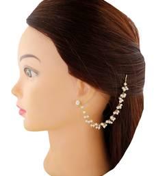 Designer Single Line Pearl Earchain or Ear Support Earrings