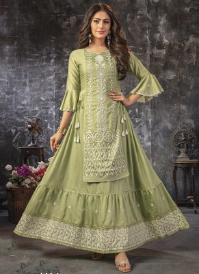 Popular Green Party Wear Kurti