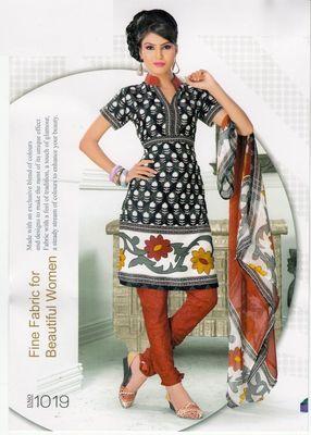 Dress Material Elegant Crepe Printed Unstitched Salwar Kameez Suit D.No 1019