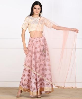 SWAGG INDIA Womens wear Baby Pink Color Lehanga choli