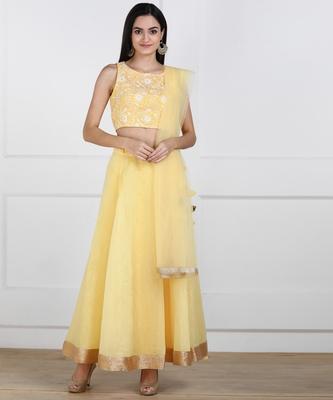 SWAGG INDIA Womens wear Yellow Color Lehanga choli