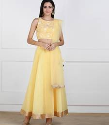 SWAGG INDIA Womens wear Yellow Color Lehanga choli
