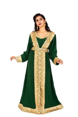 Bottle Green luxurious Moroccan Kaftan
