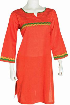 Just Women - Ethnic medium length Kurti with Applique work