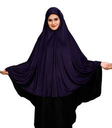 JSDC Women's Islamic Wear Plain Viscose Lycra Prayer Chaderi Hijab Scarf Makhna