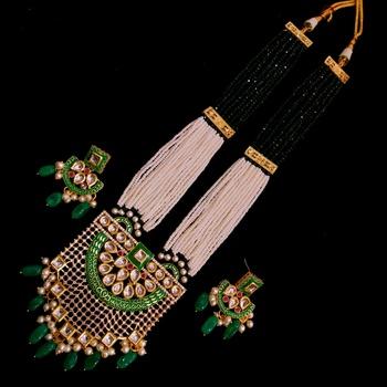 Green kundan necklace-sets