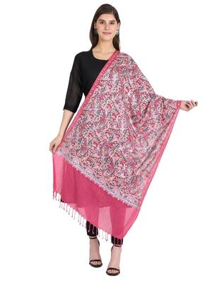 pink wool shawl