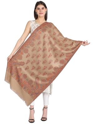 beige wool shawl