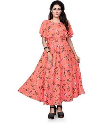 Wedani Flared A-Line Maxi Dress