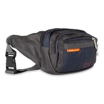 NFI essentials Waist Bag Zip Bag Multipurpose Belt Bag for Men Polyester Waist Pouch (Navy Blue)