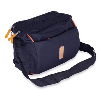 NFI essentials Men's Sling Bag Cross Body Travel Business Messenger Bag for Men (Navy Blue)