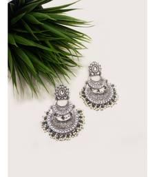 Silver Statement Chandbali Earrings