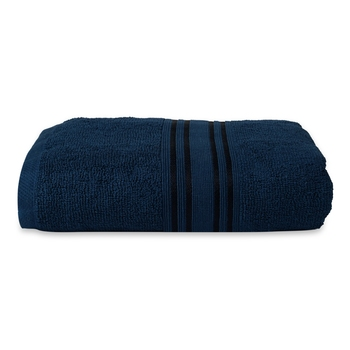 NFI essentials 100% Cotton 480 GSM Large Bath Towel | Super Absorbent, Large & Soft Towel | 142 x 71 cm (Navy Blue)
