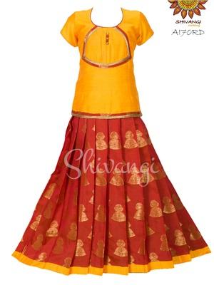 Shivangi Golden Jimmki Pavadai Set/Lehenga !!! – AI70RD