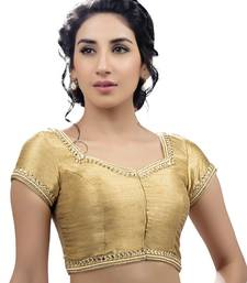 Buy Moti & Stone laced ready made padded stitched blouse bridal-blouse online