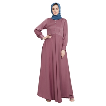 Light-pink plain nida abaya