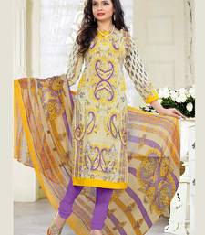 Buy multicolor printed cambric and cotton unstitched salwar with dupatta