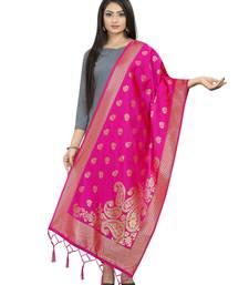 RaniPink Banarasi Silk Jacquard Woven Dupatta