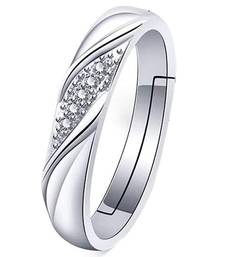 White crystal rings