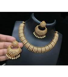 Yellow Gold Alloy necklace sets