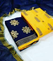 yellow cotton dress-materials