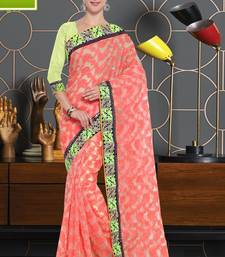 Pink Cotton    Brasso Saree With Blouse For Women