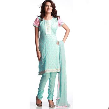 Stunning Cotton Suit With Resham Embroidery