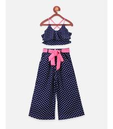 Blue Polka Dot Clothing Set