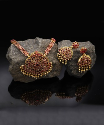 Red Stone Kemp Necklace Set