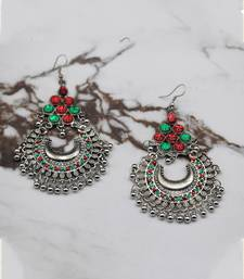 Silver Plated Chandbali Earrings