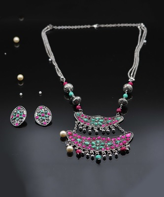 silver_plated Alloy necklace-sets
