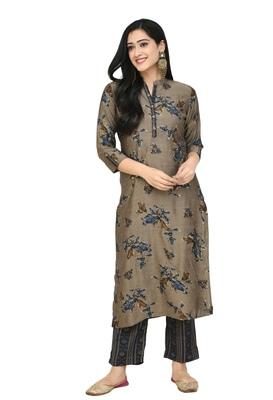 Lagi women straight floral printed kurta with printed pant (KD30B)