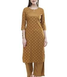 Lagi women straight printed rayon kurta with printed palazzo(MRP04)