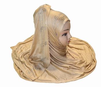 JSDC Women Casual Wear Women Stone Work Hosiery 4 Way Scarf Hijab Dupatta