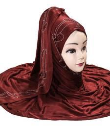 JSDC Women Diamond Stone Work Hosiery Scarf Hijab Stole