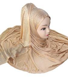 JSDC Beige Color Women Hosiery Diamond Stone Work Scarf Hijab