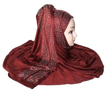 JSDC Hosiery Diamond Stone Work Women Hijab Scarf