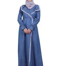 Kohinoor Denim Abaya- Blue