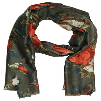 Stole for Women - Cotton Printed Women's Stole - Grey