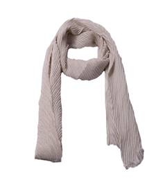 Stole for Women - Crinkled Cotton Mesh Sparkling Women's Stole - White