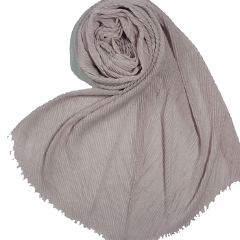 Stole for Women - Crinkled Cotton Mesh Sparkling Women's Stole - Purple