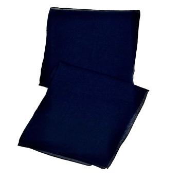 Stole For Women - Plain Chiffon Hijab- Blue