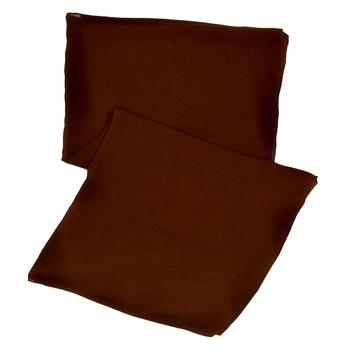 Stole For Women - Plain Chiffon Hijab- Brown