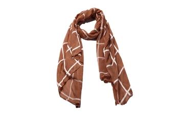 Best Seller - Designer Grid Hijab - Fabric 100 % Pure Cotton Hijab - Brown