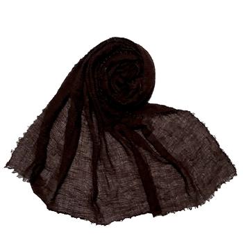Stole For Women - Plain Premium Cotton Hijab - Brown